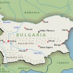 Map with Bulgaria