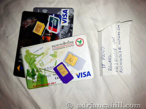 sim, visa and cards